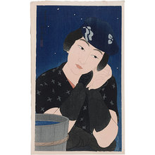 Ito Shinsui: Twelve Images of Modern Beauties: Woman from Oshima Island (Shin bijin junisugata: Shima no Onna) - Scholten Japanese Art