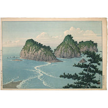 川瀬巴水: Dôgashima Island in Izu District (Midday) (Izu Dôgashima, Hiru) - Scholten Japanese Art