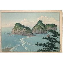 川瀬巴水: Dôgashima Island in Izu District (Midday) (Izu Dôgashima, Hiru) - Scholten Japanese Art