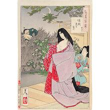 月岡芳年: One Hundred Aspects of the Moon: A glimpse of the moon - Kaoyo (Tsuki hyakushi: kaimami no tsuki - Kaoyo) - Scholten Japanese Art