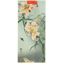 Ito Sozan: Lilies with bees - Scholten Japanese Art