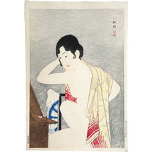 Takahashi Hiroaki: Make-up before the mirror (moga) (Kagami no mae- Kesho) - Scholten Japanese Art