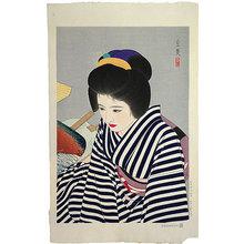 Shimura Tatsumi: Five Figures of Modern Beauties: High Summer (Gendai Bijin Fuzoku Gotai: Natsutakete) - Scholten Japanese Art