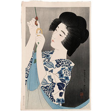 Ito Shinsui: The First Series of Modern Beauties: Mosquito Net (Gendai bijinshu dai-isshu: Kaya) - Scholten Japanese Art
