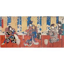 歌川国貞: A Popular Selection of Six Flowers: A Handmade Flower (Furyu rokkasen no uchi: Tsukuri-hana) - Scholten Japanese Art