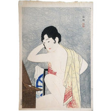 高橋弘明: Make-up before the mirror (moga) (Kagami no mae- Kesho) - Scholten Japanese Art