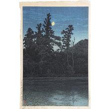 川瀬巴水: Sanpoji Pond in Shakujii (Sanpoji ike [Shakuji]) - Scholten Japanese Art