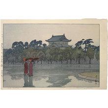 Yoshida Hiroshi: Twelve Scenes of Tokyo: Edo Castle (The old inner citadel) (Tokyo juni dai: kyu hon maru) - Scholten Japanese Art