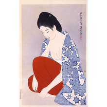 Ito Shinsui: The Second Series of Modern Beauties: Nails (Gendai bijinshu dai-nishu: Tsume) - Scholten Japanese Art