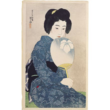Ito Shinsui: Twelve Images of Modern Beauties: Cotton Kimono (Shin bijin junisugata: Yukata) - Scholten Japanese Art
