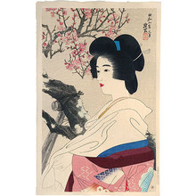 Ito Shinsui: The Second Series of Modern Beauties: Red Blossoms (Gendai bijinshu dai-nishu: Kobai) - Scholten Japanese Art