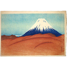 Friedrich Capelari: Fuji from a Desolate Field - Scholten Japanese Art