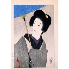 伊東深水: Drizzling Rain (Shigure) - Scholten Japanese Art
