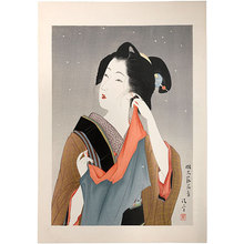 鏑木清方: Light Snow, Customs of Young Women: Beauty of the Fifteenth Year of Meiji [1882] (Meiji Jugonen Koro no Fuzoku) - Scholten Japanese Art