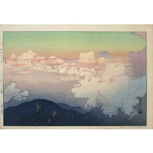 吉田博: The Southern Japan Alps Series: Above the Clouds (Nihon Minami Alps Shu: Unn Pyou) - Scholten Japanese Art
