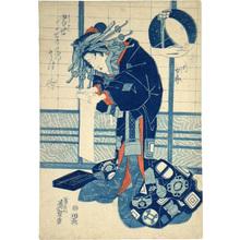 渓斉英泉: Pictures of Modern Figures: The Spirit of a Courtesan's Heart- Dejection (Tosei Sugata no Utsushi-e: Iki Joro) - Scholten Japanese Art