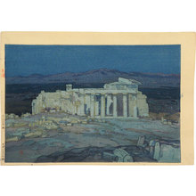 吉田博: Europe Series: Ruins of Athens (Acropolis- Night) (Oushuu: Azensu no Koseki) - Scholten Japanese Art