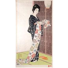 Hashiguchi Goyo: Young Woman in Summer Kimono (natsu yosoi no musume) - Scholten Japanese Art