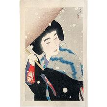 Torii Kotondo: Peony Snow (Botan Yuki) - Scholten Japanese Art
