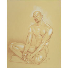 Paul Binnie: Male Nude Study (Nap) ((Hirune)) - Scholten Japanese Art