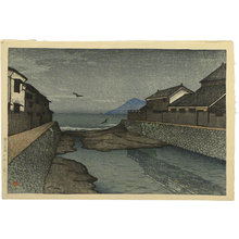 川瀬巴水: Souvenirs of Travels, First Series: Hori River, Obama (Tabi miyage dai isshu: Obama Horikawa) - Scholten Japanese Art