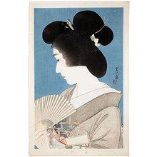 鳥居言人: Summer Geisha (Natsuko) - Scholten Japanese Art