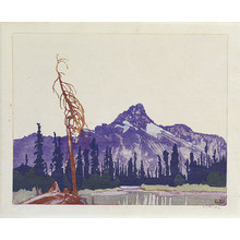 Walter Joseph Phillips: Ten Canadian Colour Prints: Mont Cathedral from Lake O'Hara (British Columbia) - Scholten Japanese Art