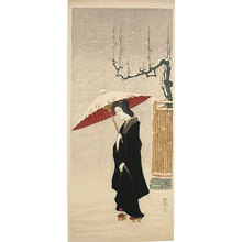 Friedrich Capelari: Woman in Snow - Scholten Japanese Art