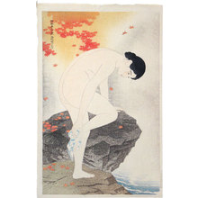 Ito Shinsui: The First Series of Modern Beauties: Fragrance of the Hot Springs (Gendai bijinshu dai-isshu: Yu no ka) - Scholten Japanese Art