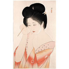 朝井清: Dressing Her Hair (Kamiyui) - Scholten Japanese Art
