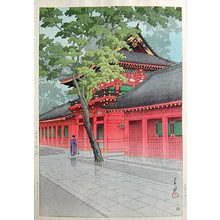Kawase Hasui: After the Rain at Sanno Shrine (Sanno no Amego) - Scholten Japanese Art