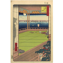 歌川広重: One Hundred Famous Views of Edo: Moon Viewing Point (Meisho Edo hyakkei: Tsuki-no-Misaki) - Scholten Japanese Art