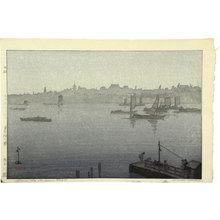 吉田博: Twelve Scenes of Tokyo: Sumida River in the Mist (Tokyo juni dai: Sumidagawa kiri) - Scholten Japanese Art