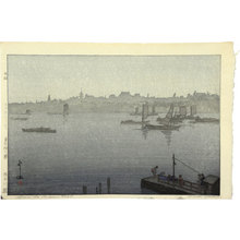Yoshida Hiroshi: Twelve Scenes of Tokyo: Sumida River in the Mist (Tokyo juni dai: Sumidagawa kiri) - Scholten Japanese Art