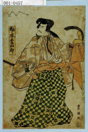 歌川豊国: 「松本幸四郎」 - 演劇博物館デジタル