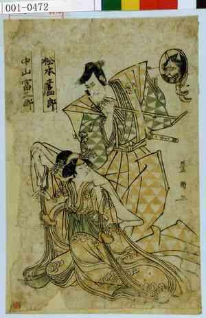 Utagawa Toyokuni I: 「松本幸四郎」「中山富三郎」 - Waseda University Theatre Museum