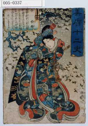 歌川国芳: 「見盾十二史」「子 雪姫」 - 演劇博物館デジタル