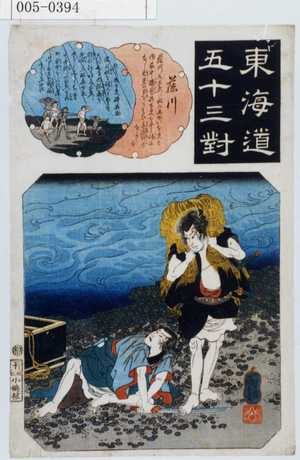 Utagawa Kuniyoshi: 「東海道五十三対」「藤川」 - Waseda University Theatre Museum