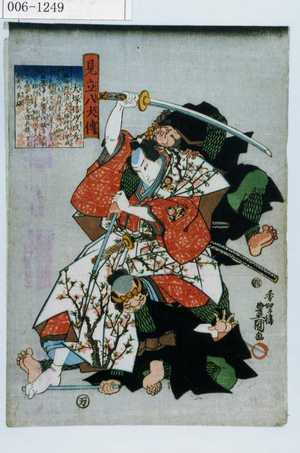 歌川国貞: 「見立八犬伝」「犬塚信乃戌孝」 - 演劇博物館デジタル