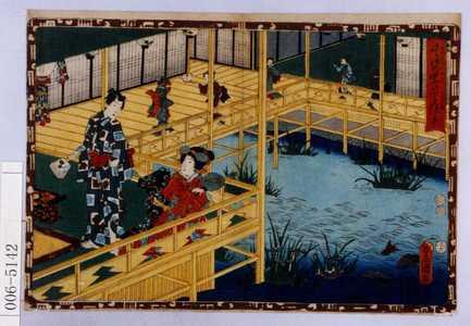 歌川国貞: 「其姿紫の写絵 五十」 - 演劇博物館デジタル