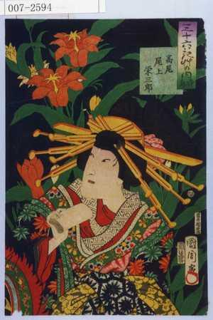 Toyohara Kunichika: 「三十六花艸の内 時鳥」「高尾 尾上栄三郎」 - Waseda University Theatre Museum