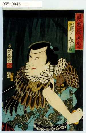 Ochiai Yoshiiku: 「見立橋弁慶」「鷲ノ長吉」 - Waseda University Theatre Museum