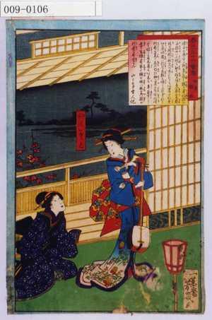 Ochiai Yoshiiku: 「春色三十六会席」 - Waseda University Theatre Museum