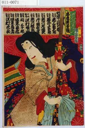 Toyohara Chikanobu: 「忠孝英勇競」「明治十二卯の春」「巴女 尾上菊五郎」 - Waseda University Theatre Museum