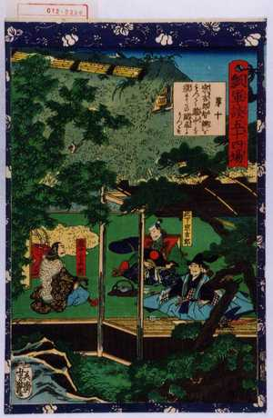 Utagawa Yoshitsuya: 「瓢軍談五十四場」「第十 宗吉郎智弁をもつて瀧中を須またの閑居にうつす」「此下宗吉郎」「瀧中官兵衛」 - Waseda University Theatre Museum