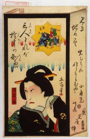 Utagawa Hiroshige II: 「見立地口尽」「局岩藤」 - Waseda University Theatre Museum