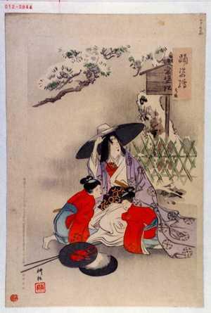 耕耘: 「踊姿絵」「常盤」 - Waseda University Theatre Museum
