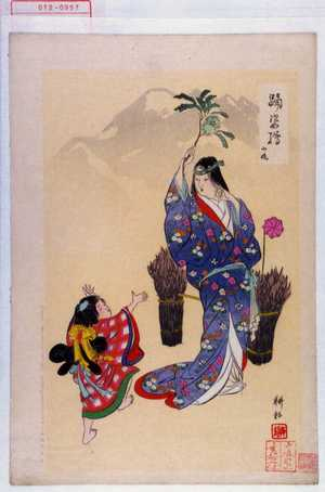 耕耘: 「踊姿絵」「山姥」 - Waseda University Theatre Museum