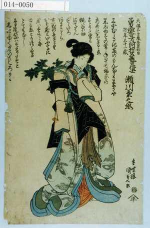 Utagawa Kunisada: 「天保三壬辰正月七日 勇誉才阿哲芸信士 行年三十一歳 瀬川菊之丞」 - Waseda University Theatre Museum