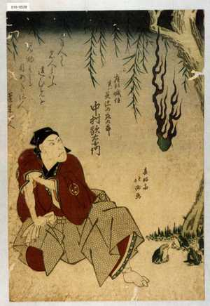 Shunkosai Hokushu: 「座頭城住実ハ美濃の庄九郎 中村歌右衛門」 - Waseda University Theatre Museum